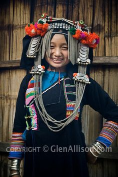 young girl from Phongsali Province, Huay Yueng village Laos