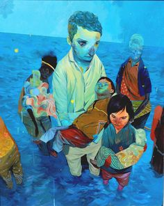 Conflicted Cambodian Art (12 paintings)