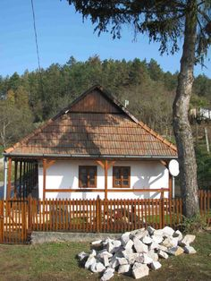 traditional farm house, Hungary