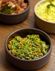 A wonderfully fragrant Sri Lankan side dish, straight from the kitchen of Kolamba restaurant in London. A homemade unroasted curry powder and plenty of fresh, grated coconut is the key Vegan Lunch Recipes, Chef Recipes, Vegan Dinners, Veggie Recipes, Vegan Recepies, Veggie Meals, Savoury Recipes, Healthy Recipes, Vegan Food