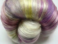 French Lavender - Spinning fibers from Silver Sun Alpacas