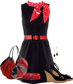 """H Sleeveless Dress Black"" by linda-bankston on Polyvore"