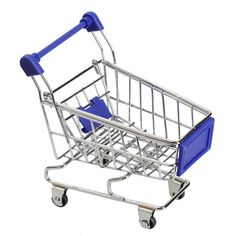 Mini Supermarket Handcart Shopping Utility Cart Mode Storage Funny Folding Shopping Cart With Wheels 11cm*8cm*11.5cm