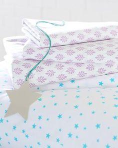 Garnet Hill Little Prints Organic-Cotton Knit Bedding