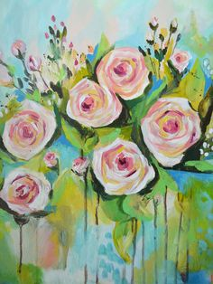Pink Roses by katikleimola on Etsy
