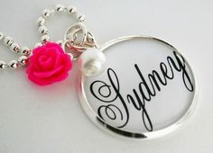 PERSONALIZED NAME Charm Necklace