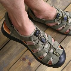 Men Giovanni Sandals Outdoor Fisherman Strap Adjustment Man-Made Casual Comfort