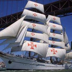 Lisbon Parade of Sails 2012 Portugal's Tall Ship ~ Sagres   #Portugal (My brother served in that ship)