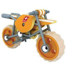 moto ecológica de juguete de madera de bambú en El País de los Juguetes 19'95€