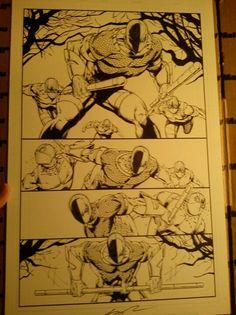 Rob Liefeld original comic art