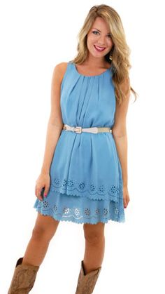 Scalloped Layers Dress :: NEW ARRIVALS :: The Blue Door Boutique