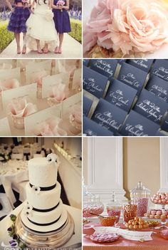 {Inspiration} Navy Blue and Blush Pink on http://www.engagedandinspired.com