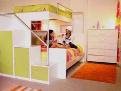 Colorful Bunk Bed for Teenager