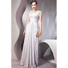 Retro Style Grey Square-neck A-line Cap Sleeves Silk-like Fabric/Satin Floor Length Evening Dress Cheap Party Dresses, Cheap Evening Dresses, Dresses Uk, Ball Dresses, Evening Gowns, Prom Dresses, Dress Prom, Bride Dresses, Event Dresses