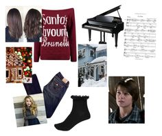 """""""Christmas With Colin Ford"""" by rockprodigy ❤ liked on Polyvore featuring True Religion and River Island"""