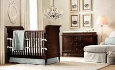 Amazing Baby Room Ideas for You : Wonderful Baby Room Ideas White Floor Wooden Cradles And Luxurious Chandeliers. buymyshitpile.com