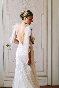 Pronovias dress: http://www.stylemepretty.com/destination-weddings/2015/01/13/elegant-tuscany-castle-wedding/ | Photography: Studio A+Q - http://studioaq.com/