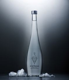 Ice Swan, luxury bottled water from Chile's Patagonia region.