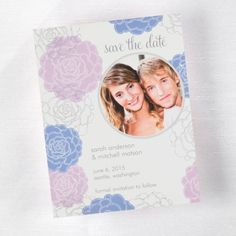 Floral Save the Date Card - Hydrangea | Quaint Wedding Stationery & Accessories