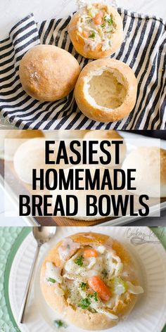Bread Bowl Recipe Is A Quick And Easy Recipe To Make Bread Bowls For Your Soup Right At Home The Crusty, Chewy Crust Pairs Perfectly With Your Favorite Soup Elevate Soup Night This Fall By Making These Homemade Bread Bowls Cooking With Karli Bread Machine Recipes, Easy Bread Recipes, Soup Recipes, Cooking Recipes, Recipies, Homemade Bread Bowls, Homemade Soup, Bread Bowls For Soup, Homemade Breads