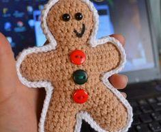Gingerbread Man free crochet pattern - Free Gingerbread Man Crochet Patterns - The Lavender Chair