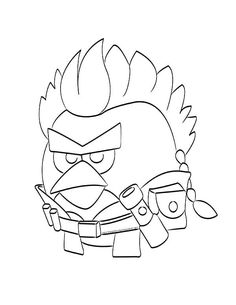 Birds Coloring Page Angry Bird Space Coloring Pages Angry Birds