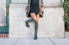 Sometimes knee-high is just high enough. As the days get cooler, find a happy medium with cozy knee-highs and a sundress. A playful peek of skin paired with Originals is the perfect recipe for breezy fall weather.