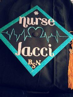 Nursing school graduation cap. #Bling #Decorated #2013 #IDIDIT