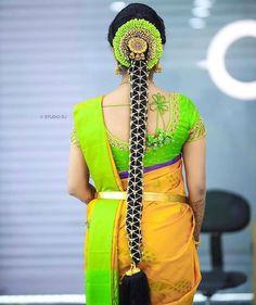 Check out this stunning south indian bridal hair style by Varsha Bridal Makeover Bridal Hairstyle Indian Wedding, South Indian Bride Hairstyle, Bridal Hair Buns, Indian Bridal Hairstyles, Bride Hairstyles, Down Hairstyles, Simple Hairstyles, Hairstyle Ideas, Bridal Makeover