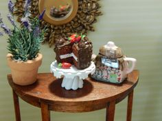 Miniature Chocolate Cake with Strawberries and by JansPetitPantry