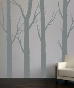 Transform any room into an enchanted wood with gorgeous branching tree decals. These chic designs meld together natural and contemporary design and are easy to apply and remove.Includes four decals8'' to 9'' W x 96'' HVinylMade in the USA