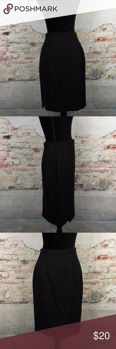 Bagutta Italy 10 Black Wool Blend Wrap Skirt Bagutta Italy Wms Sz 10 Black Virgin Wool Blend Wrap Career A-Line Skirt Lined Bagutta Skirts