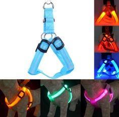 Led Flashing Light Harness Collar Pet Nylon Pet Dog Cat Collar Rope Belt HGPP024 #Unbranded