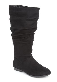 Alanis wide calf boots ComfortCradles® by Comfortview® | Plus Size Scrunch Boots | Jessica London