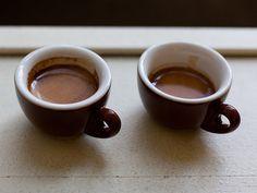 Coffee Drinks: A Visual Glossary.  Espresso vs. Espresso Ristretto, Cortado vs. Macchiato, Cappuccino vs. Latte, and Flat White vs. Caffe Latte