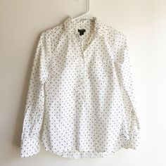Polka Dotted J. Crew Blouse Light blouse for the summer. Fits more like an XS-S. J. Crew Tops Blouses