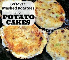 POTATO CAKES! I use leftover mashed potatoes to make potato cakes.  Quick & easy and a great way to rework leftovers into something DELICIOUS!  #TaylorMadeHomestead