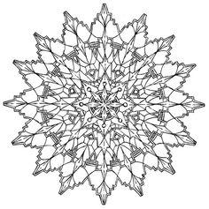 Mandala 578, Creative Haven Kaleidescope Designs Coloring Book, Dover Publications