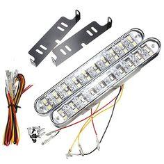 AUDEW 2 X 12W Feux de Jour Auto Lampe DRL Diurne de Conduite 30 LED Voiture Ampoule DC 12V (Blanche + Jaune Lumière) Audew http://www.amazon.fr/dp/B013QRBONK/ref=cm_sw_r_pi_dp_2sCQwb1R96J5V
