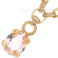 グッチ ネックレス モルガナイト ダイヤモンド K18PGピンクゴールド GUCCI ジュエリー ペンダント