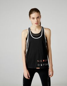 Bershka España - Camiseta sport estampado texto