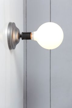 Steel Wall Sconce - Bare Bulb
