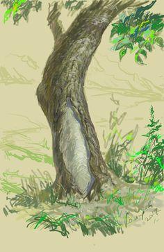 Дерево. Худ. Комаров. Цифровая живопись