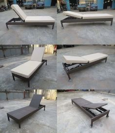 This folding Sun Lounger from Yijun Metal Furniture Co. can be angled to any desired position. #chaise #lounge