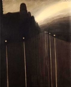 Dyke at Night by Léon Spilliaert