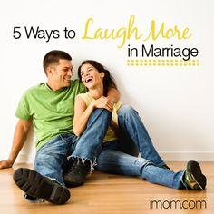 Laughter is good for the soul, the body, and your marriage. Here are 5 Ways to Laugh More in Marriage! #marriage #happymarriage