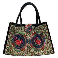 Jolly Big Fashion Bags - Blue Lotus Flowers