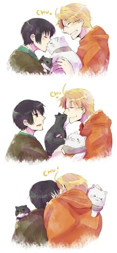 Hetalia ships: Japan x USA - I may surprise you, but I actually ship them really hard. Because of their chemistry. Because of how different they are, and yet they stay friends. And for reasons not mine nor your sanity would understand. You may ask me why them, but not as much FrUK, but that's just too hard to explain.
