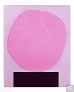 David Batchelor, Pinkoblob (painting of a monochrome sculpture, one that will only ever exist as a painting), 2012.