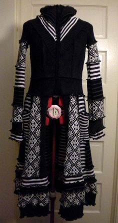 Available Now Upcycled Sweater Jacket Dress by MorphedelicDesign - StyleSays